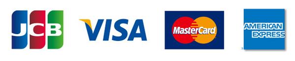 JCB/VISA/MasterCard/Amex